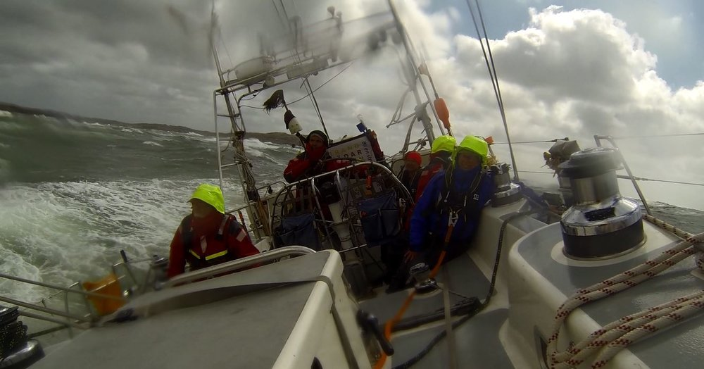 Hrimfare sailing in Force 10 storm