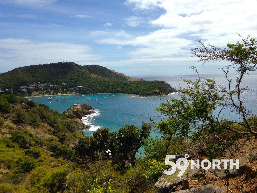 View over English Harbor, Antigua.
