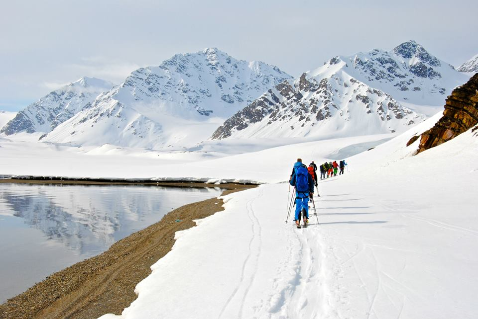 One of the many great days during a skitour trip to Svalbard