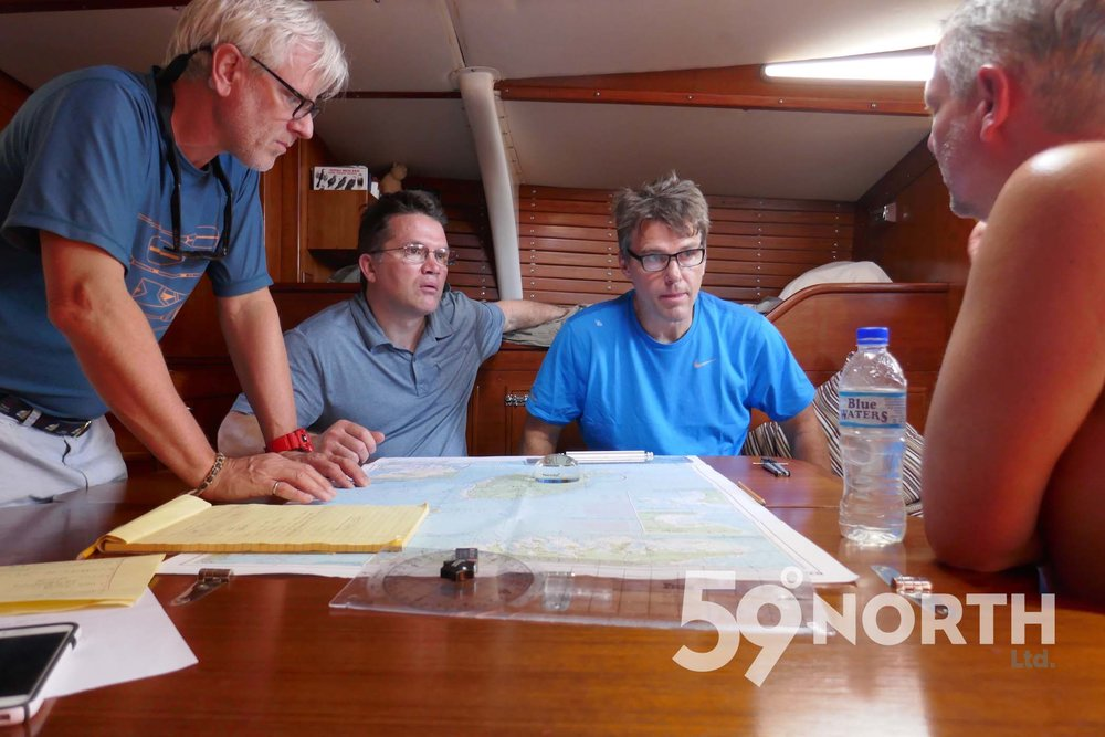 Planning the passage from Grenada to St. Croix