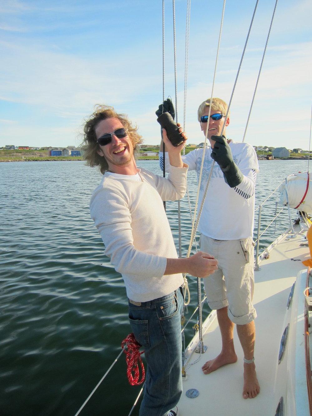 Last preparations before sailing
