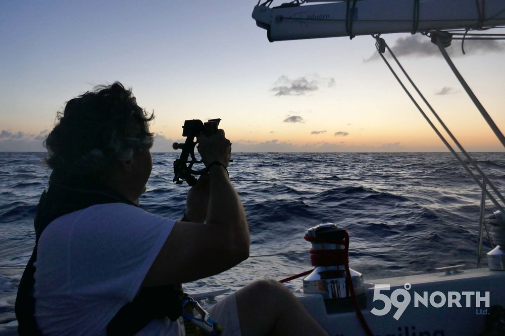 We navigated to Bermuda without GPS and just with a sextant and Celestial Navigation!