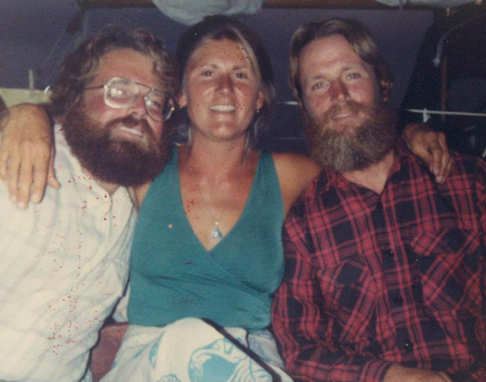 That's dad on the left in 1980! Mom in the middle!