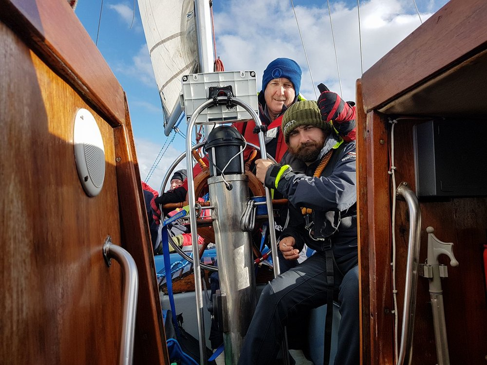 """The Skipper and the Nipper Owens"". Photo from: facebook.com/irelandtoiceland2017"