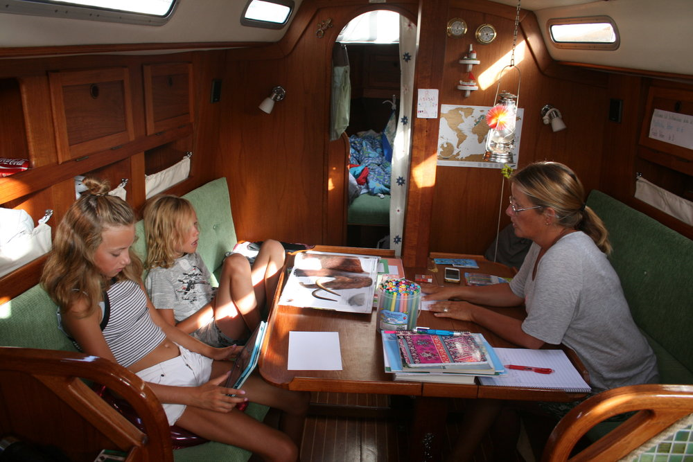 "Home schooling aboard AnnaLisa. ""On the Wind podcast Episode #206"" 59-north.com"