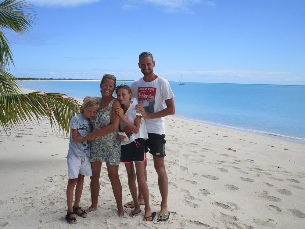 "The Veber family on Barbuda. ""On the Wind podcast Episode #206"" 59-north.com."