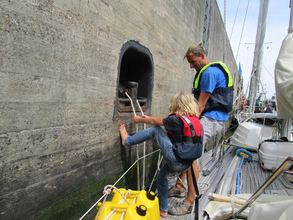 "Truls & Thomas in the locks. ""On the Wind Sailing Podcast"" Episode #206 59-north.com"