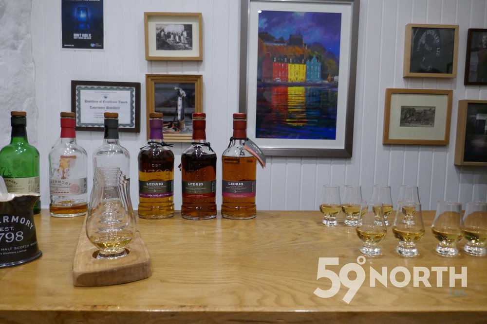 Tour and whisky tasting at the Tobermory distillery. Leg 8, 2017: Sweden to Scotland 59-north.com