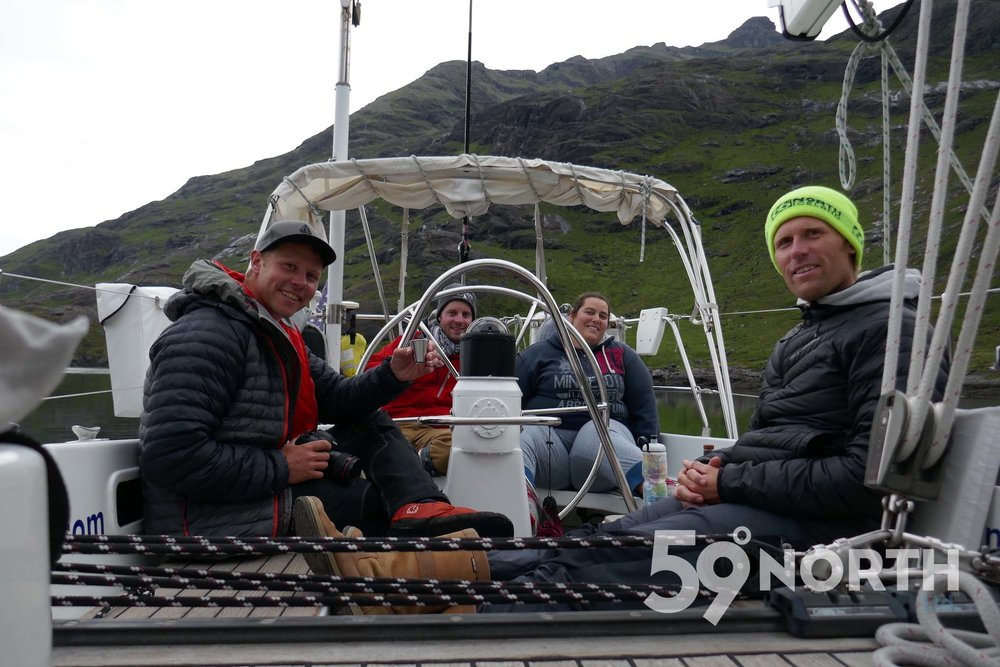 Anchored in the spectacular Loch Scavaig! Leg 8, 2017: Sweden to Scotland 59-north.com