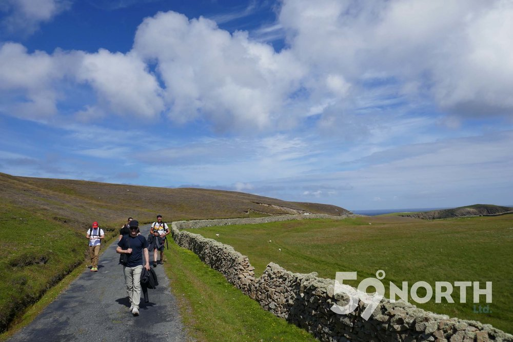 Walk around Fair Isle with Isbjorn crew!  Leg 8, 2017: Sweden to Scotland 59-north.com