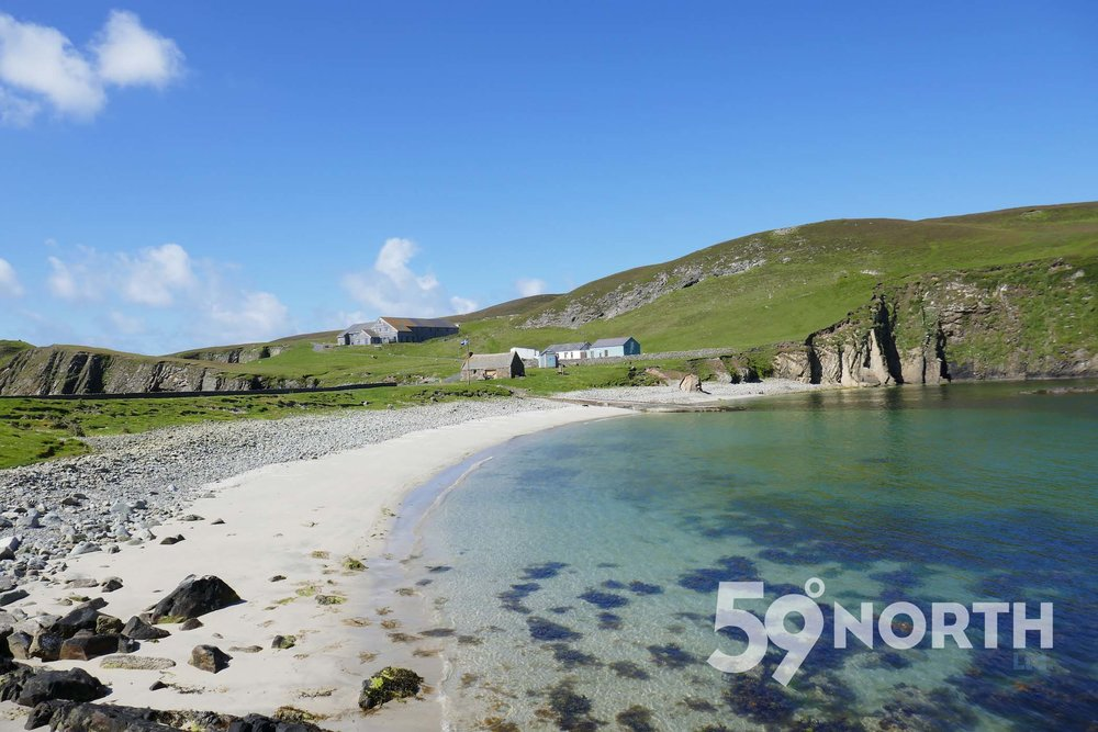Sandy beaches at Fair Isle!!  Leg 8, 2017: Sweden to Scotland 59-north.com