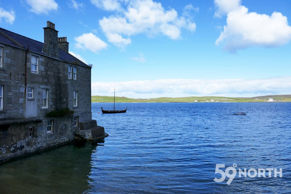 Viking ship in Lerwick, Shetland!! Leg 8, 2017: Sweden to Scotland 59-north.com
