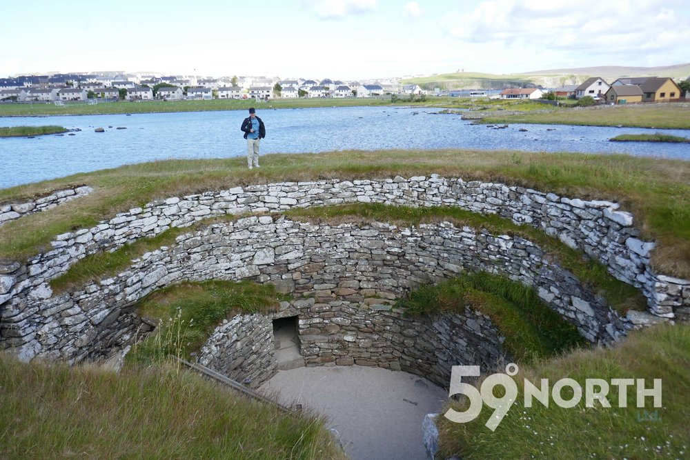 The Broch of Clickimin ruins, Lerwick, Shetland!!  Leg 8, 2017: Sweden to Scotland 59-north.com