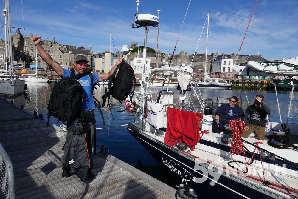 Our trip photographer James left Isbjorn inLerwick, Shetland!!  Leg 8, 2017: Sweden to Scotland 59-north.com
