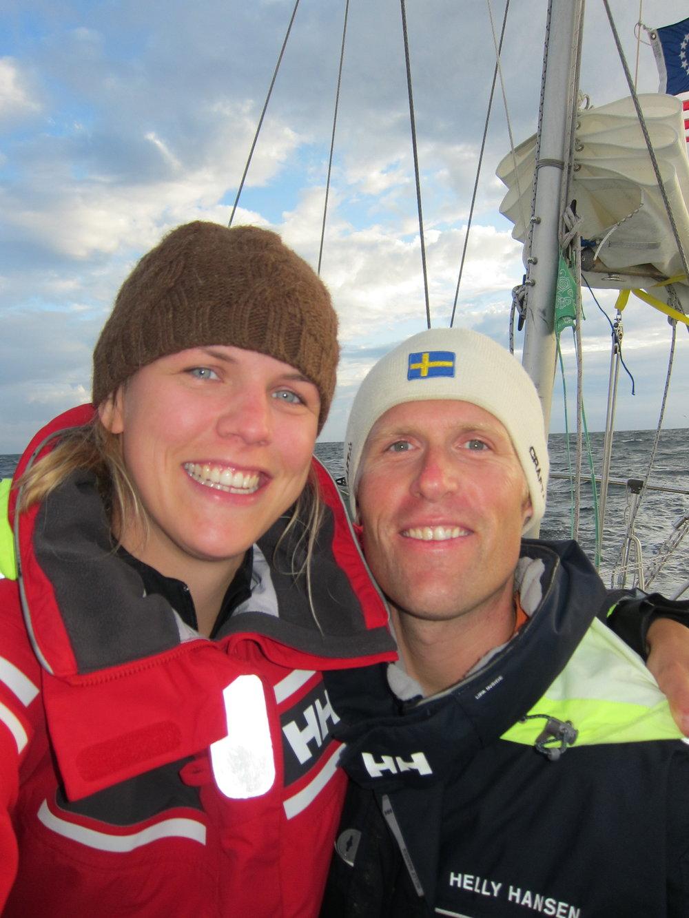 Andy och jag när vi ser land efter 23 dagar.JPG