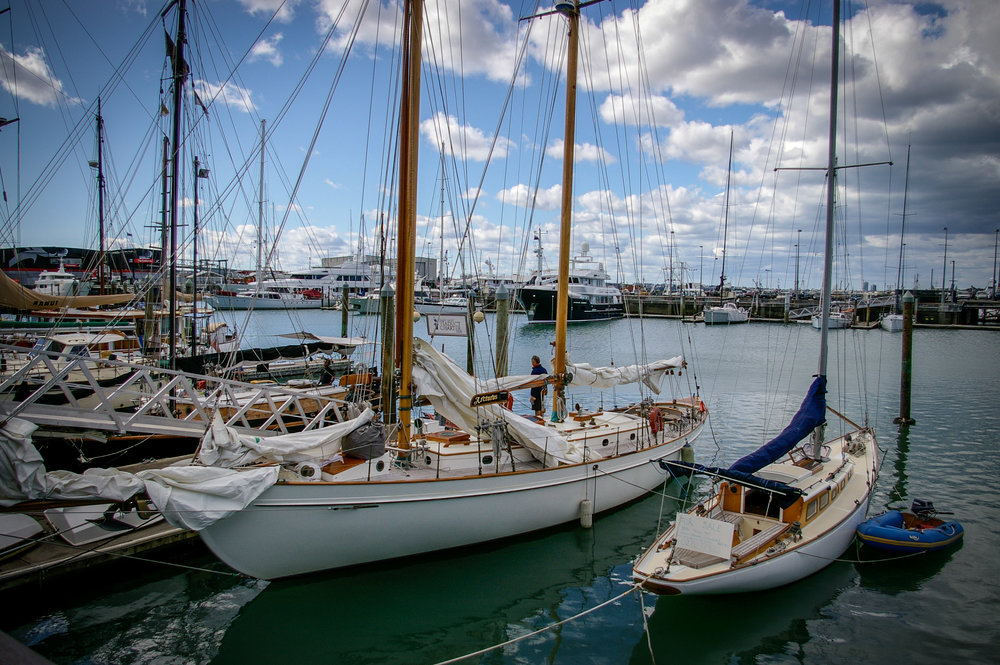 John Alden Schooner 'Arcturus' in Auckland Harbour, 2006, two days before I met Mia (I got to sail aboard her on Boxing Day). We'd later name our first boat after her.