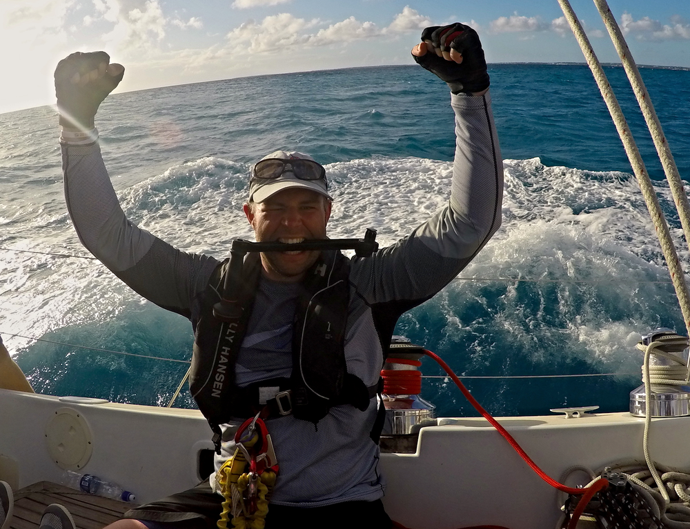 Race crew Dan Shea in the 2016 RORC Caribbean 600.