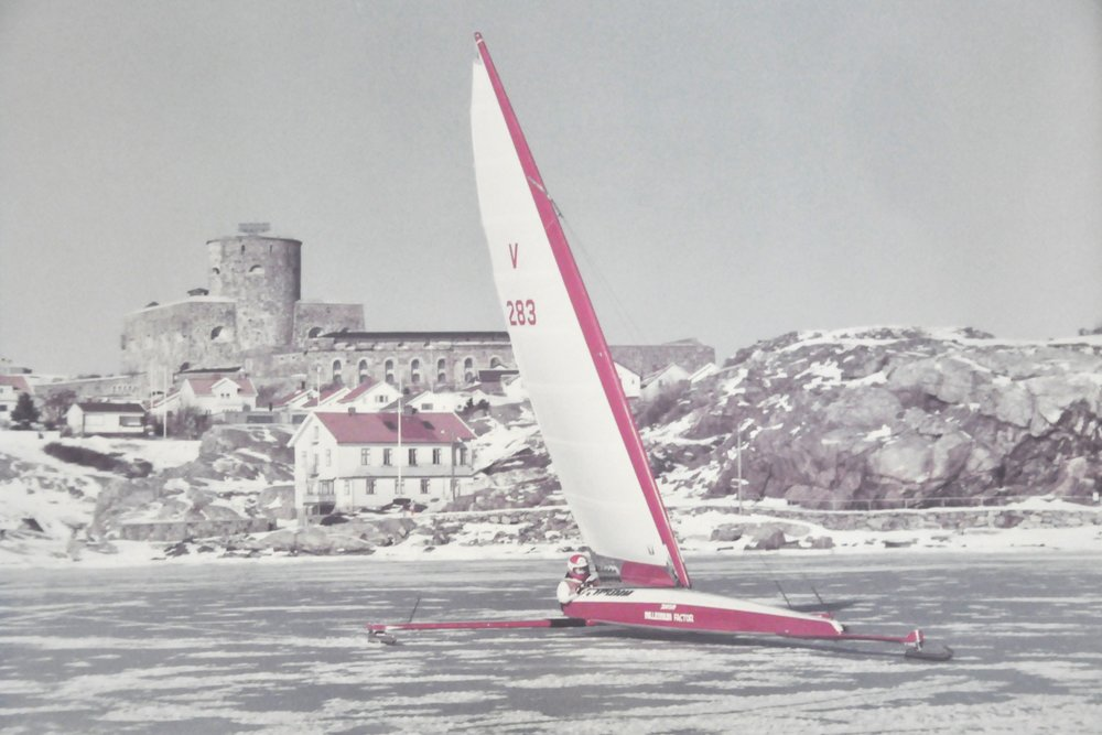 Ice sailing outside Marstrand, Sweden // #OntheWindPodcast Episode #230 with Göran Rutgerson // www.59-north.com/podcast