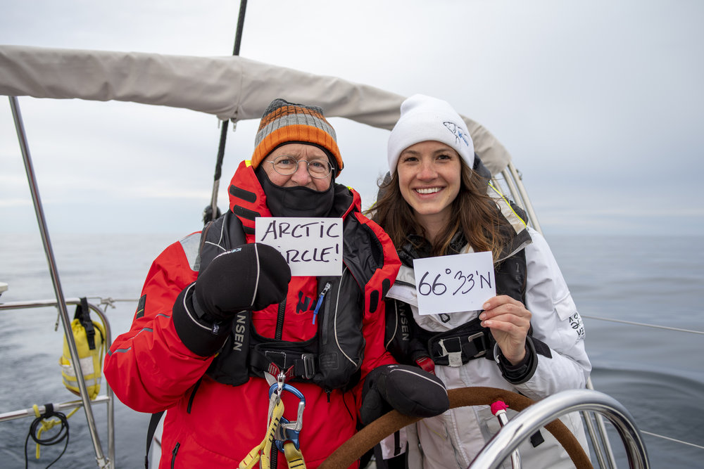 Watchmates Dick & Laura celebrate the Arctic!