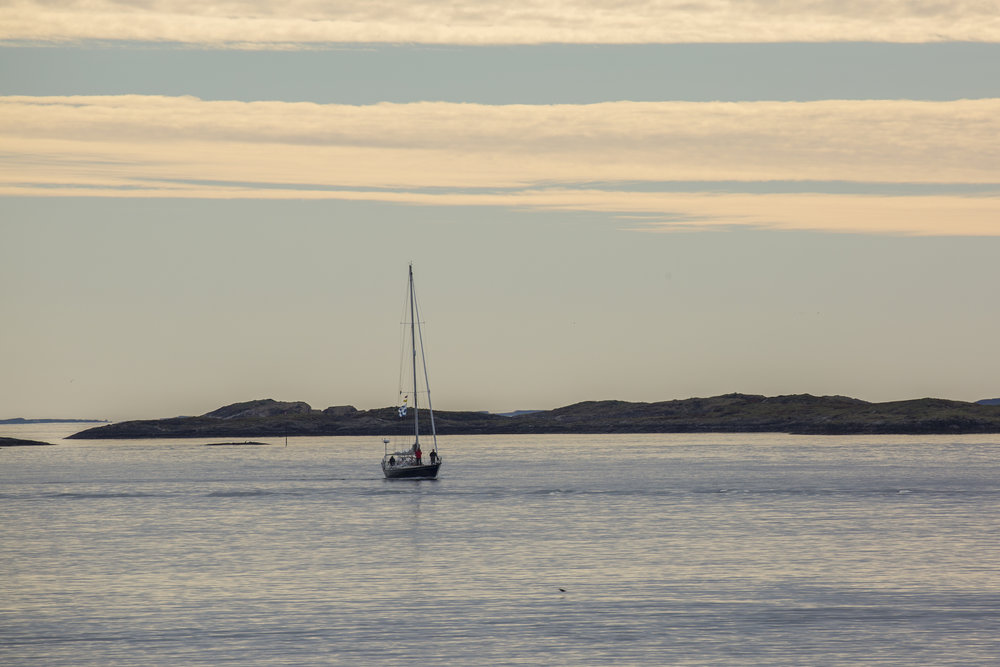 James, our ships photographer, caught us coming into Bodø, where he joined Isbjorn.