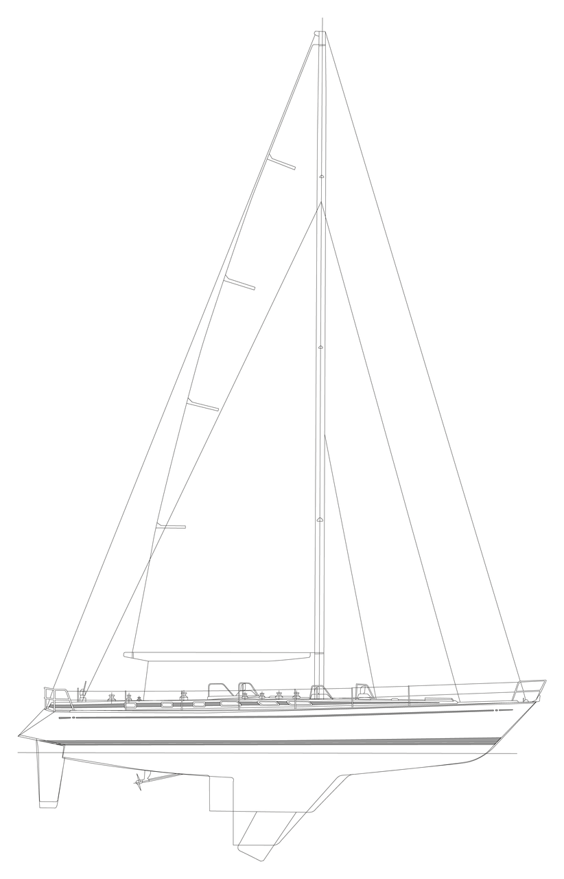 This shows both fin & centerboard keel options - we've got the deep fin version.
