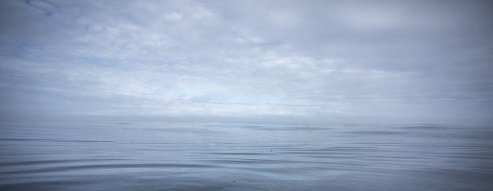 Flat-calm Greenland Sea.