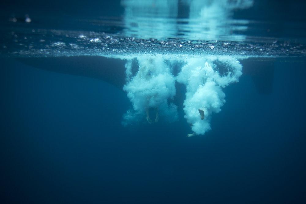 Andy & Mia into the Greenland Sea!