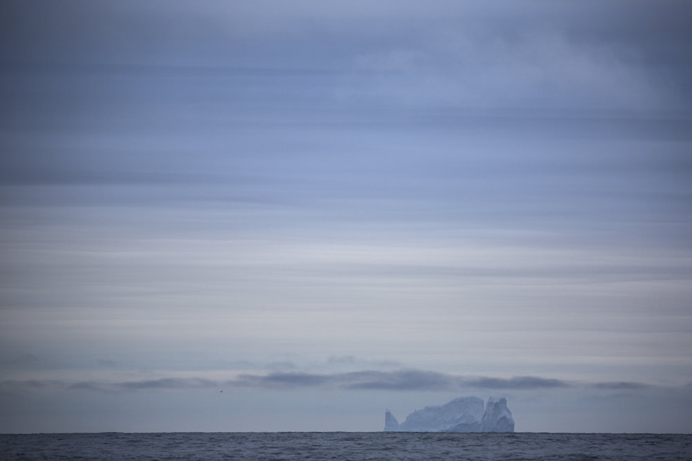 Our iceberg, seen from 15 miles away!