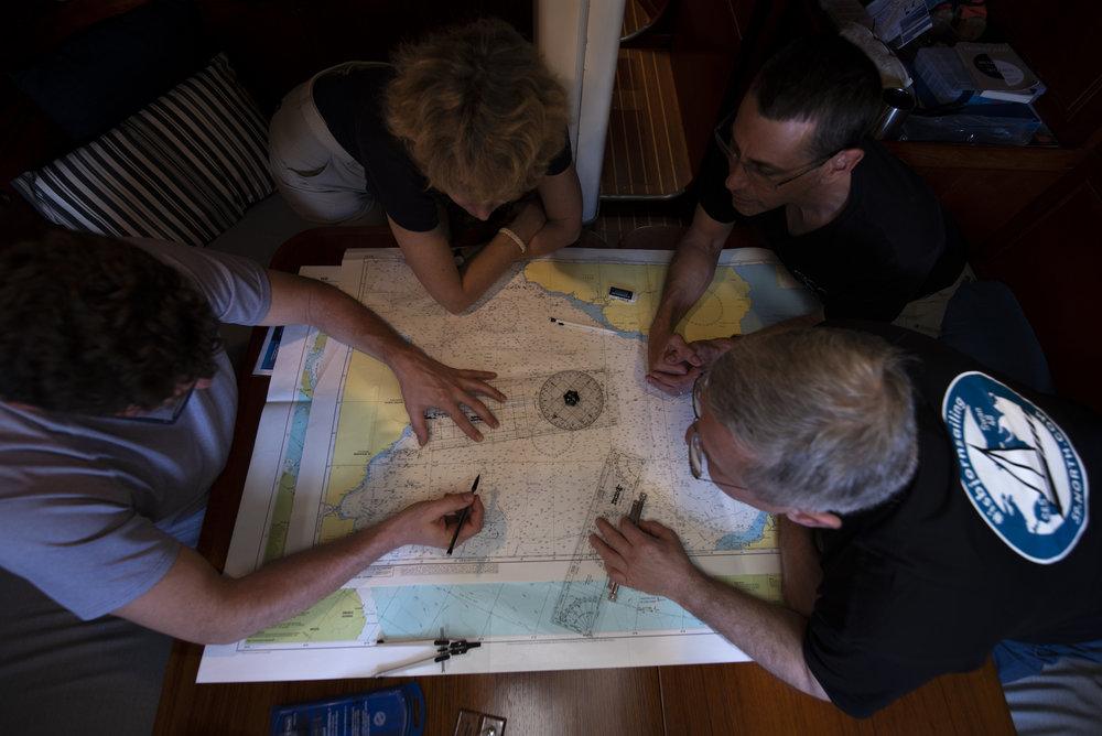 Plotting on the flat, Mercator projection.