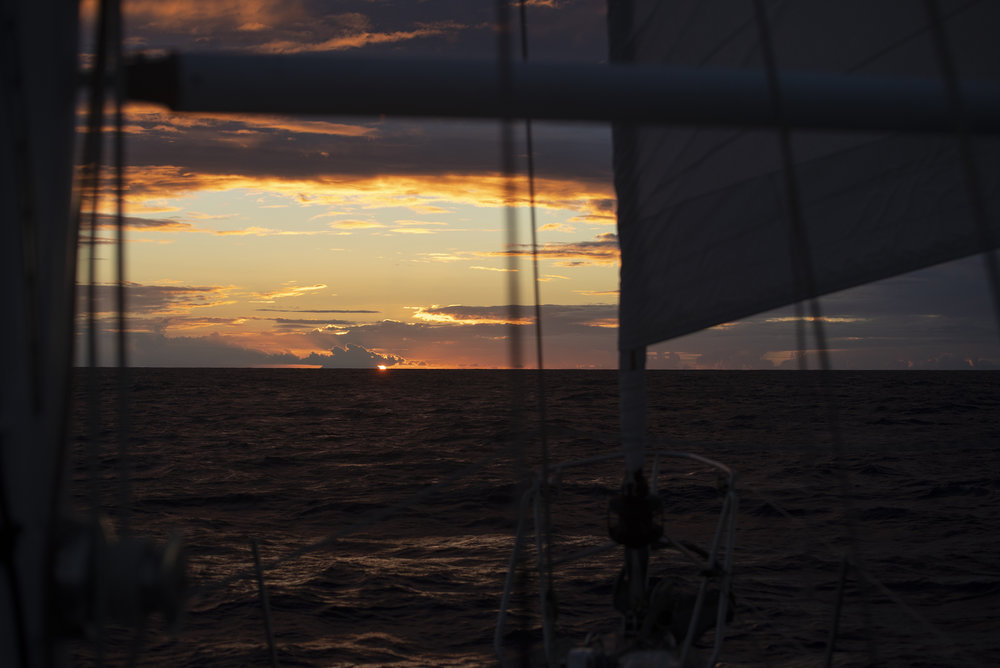 The last sunset at sea as we approached Antigua. Probably the most beautiful too.