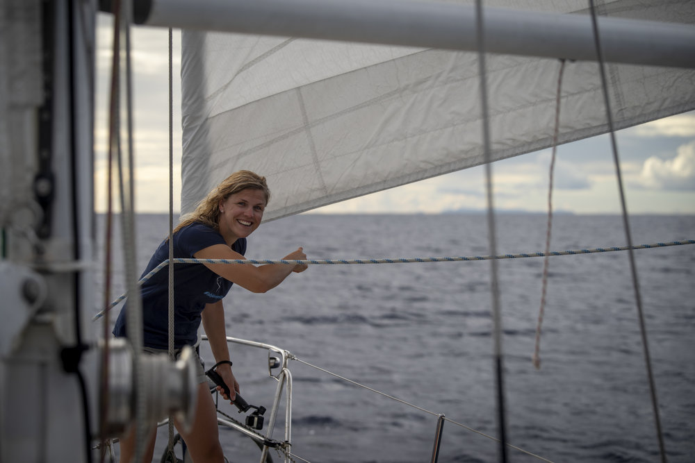 Land ho! Mia spotted Antigua just after dinner on the starboard horizon.
