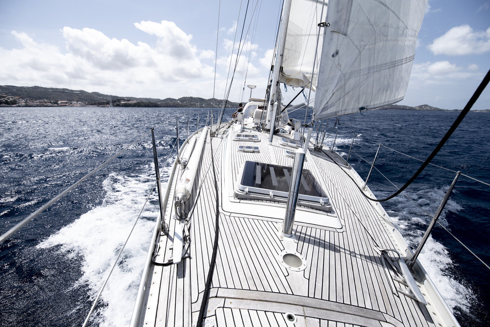 Blast off from Grenada. ICEBEAR covered 100 miles in the first 11 hours at sea!
