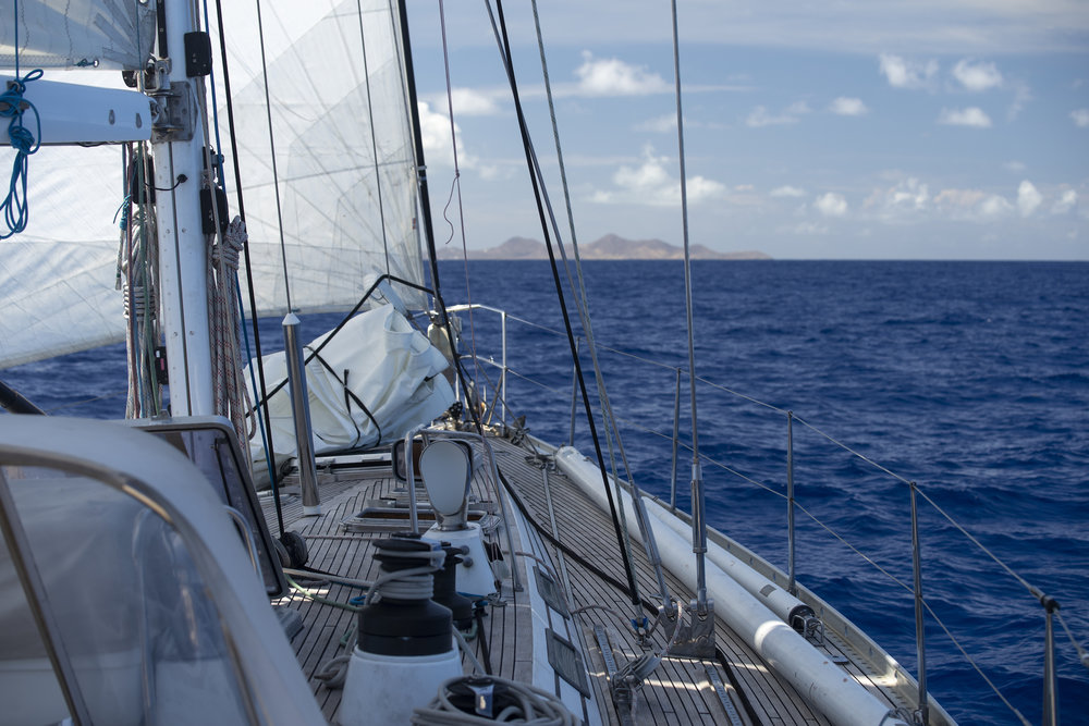 Approaching St. Croix in the USVI.