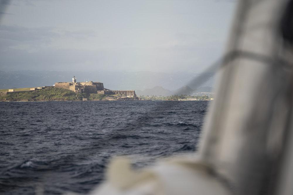 Castillo San Felipe del Morro, the 16th century fort guarding the harbor at Old San Juan.