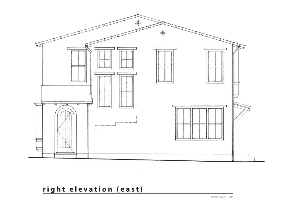new right elevation