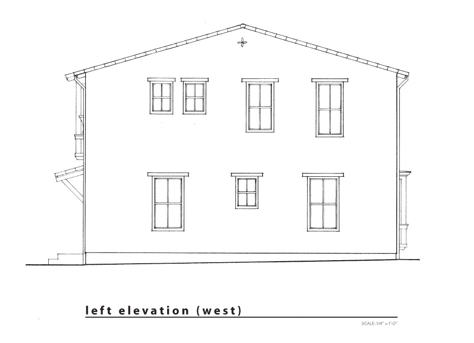 new left elevation