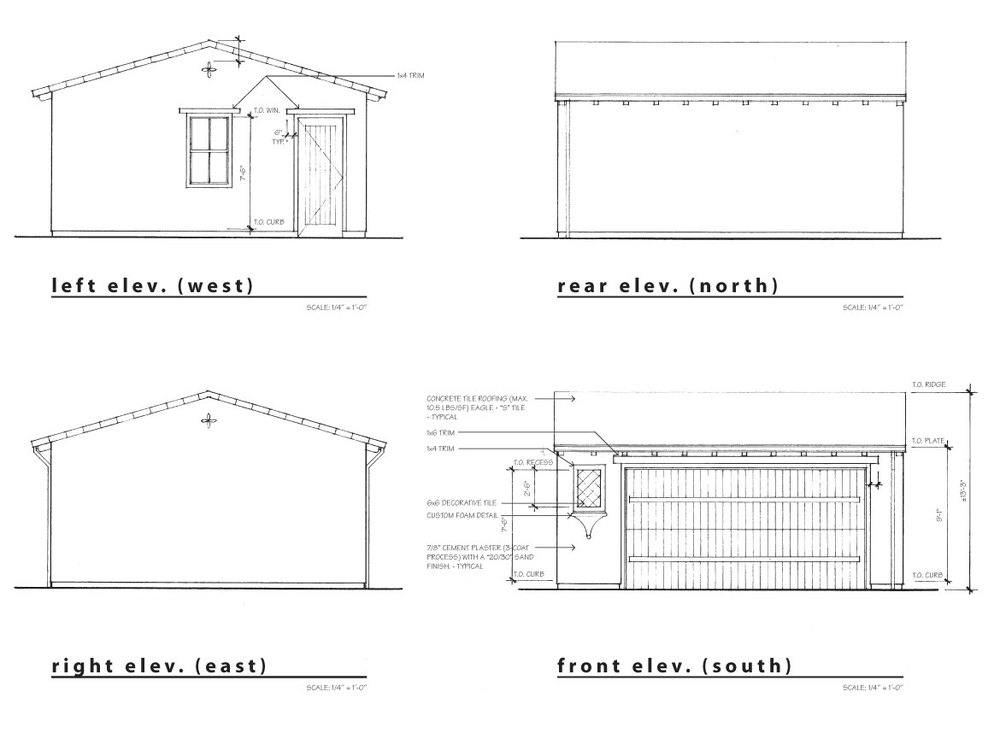 new detached garage elevations