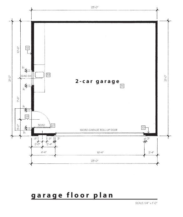 gallery for gt detached garage floor plans