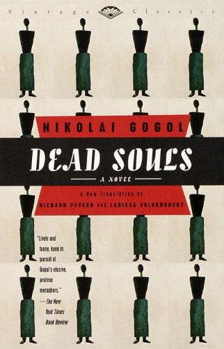 Almas mortasdeNikolai Gogol foi escrito originalmente em russoe publicado em 1842. O fim não chega a uma conclusão intencionalmente, pois era para ser o primeiro título de uma trilogia em homenagem ao Inferno de Dante. Gogol chegou a escrever o segundo volume, mas o destruiu logo antes de morrer.