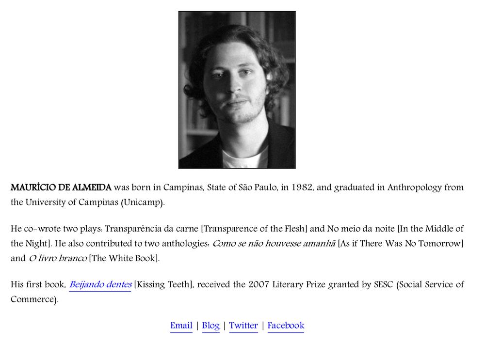 Biografia do autor na versão digital