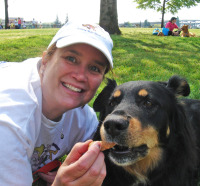 Patricia McKinney with client Simon at Doggie Dash 2010.jpg