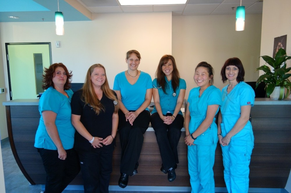 L-R: Stephanie,Mallory, Dr. Rosie Gilbert, Dr. KristyAnn Brock, Lisa and Kim.