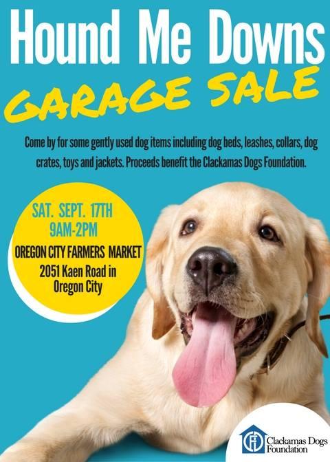 Hound Me Downs Garage Salefurry Funplanner Sponsored By Bend Pet