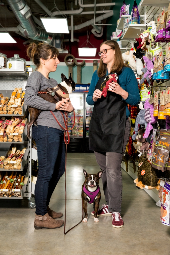 Nancy Fedelum (right) loves spending time with her human and animal customers