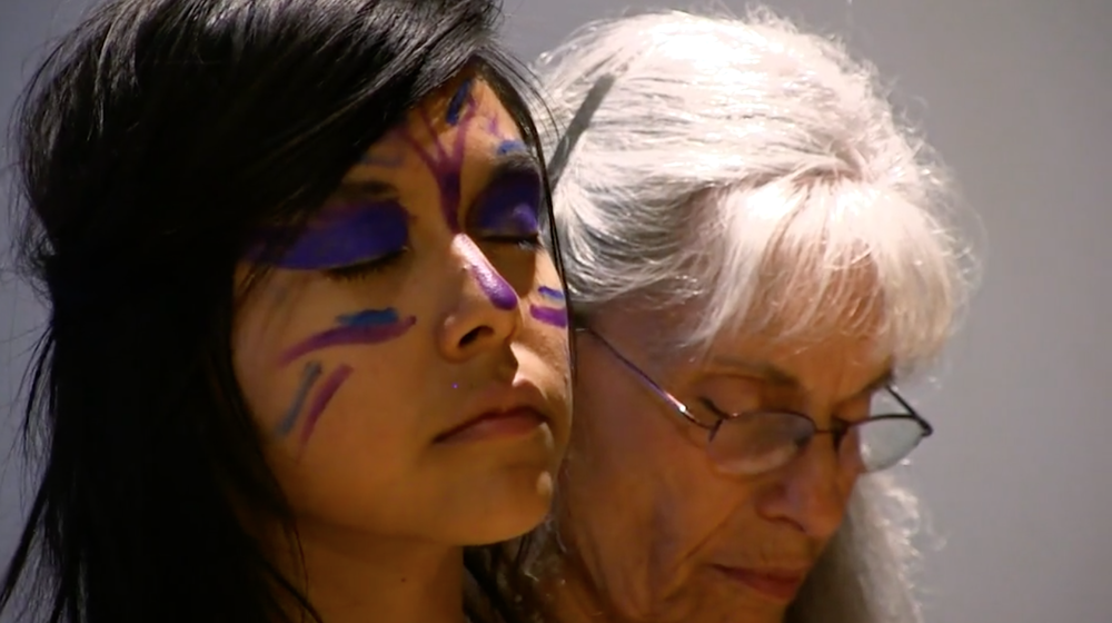 Delmar Uqualla and Rupa Cousins at Gathering in Gratitude 2015 at Mahalo Art Center.png