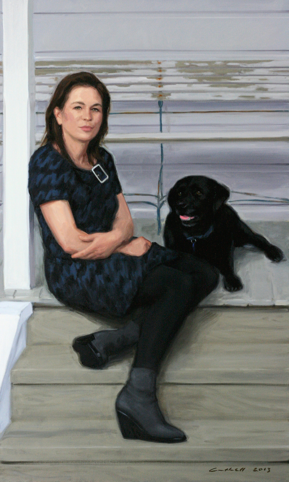 Sarah and Bobbie,  Oil on Linen, 152 x 91cm, 2013