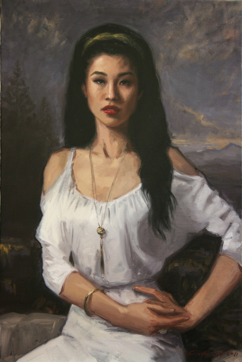 Alexandra Chan,  Oil on Linen, 90 x 60cm, 2011