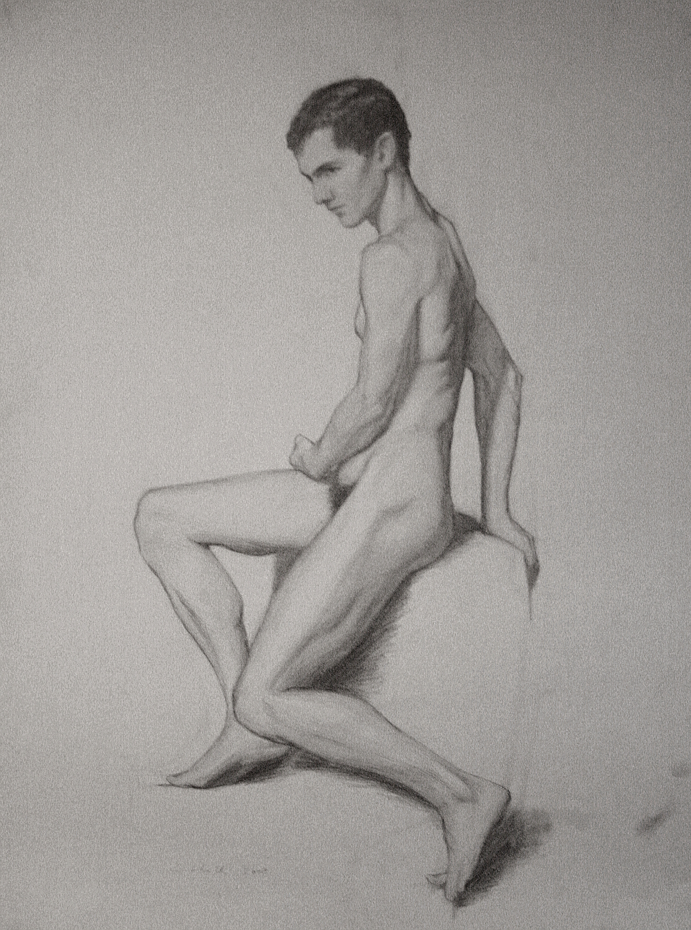 Nude,  Pencil on Paper, 60 x 42cm, 2008