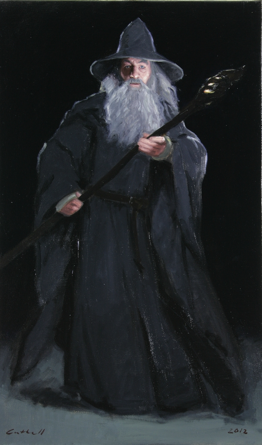 Gandalf,  Oil on Linen, 84 x 51cm, 2012