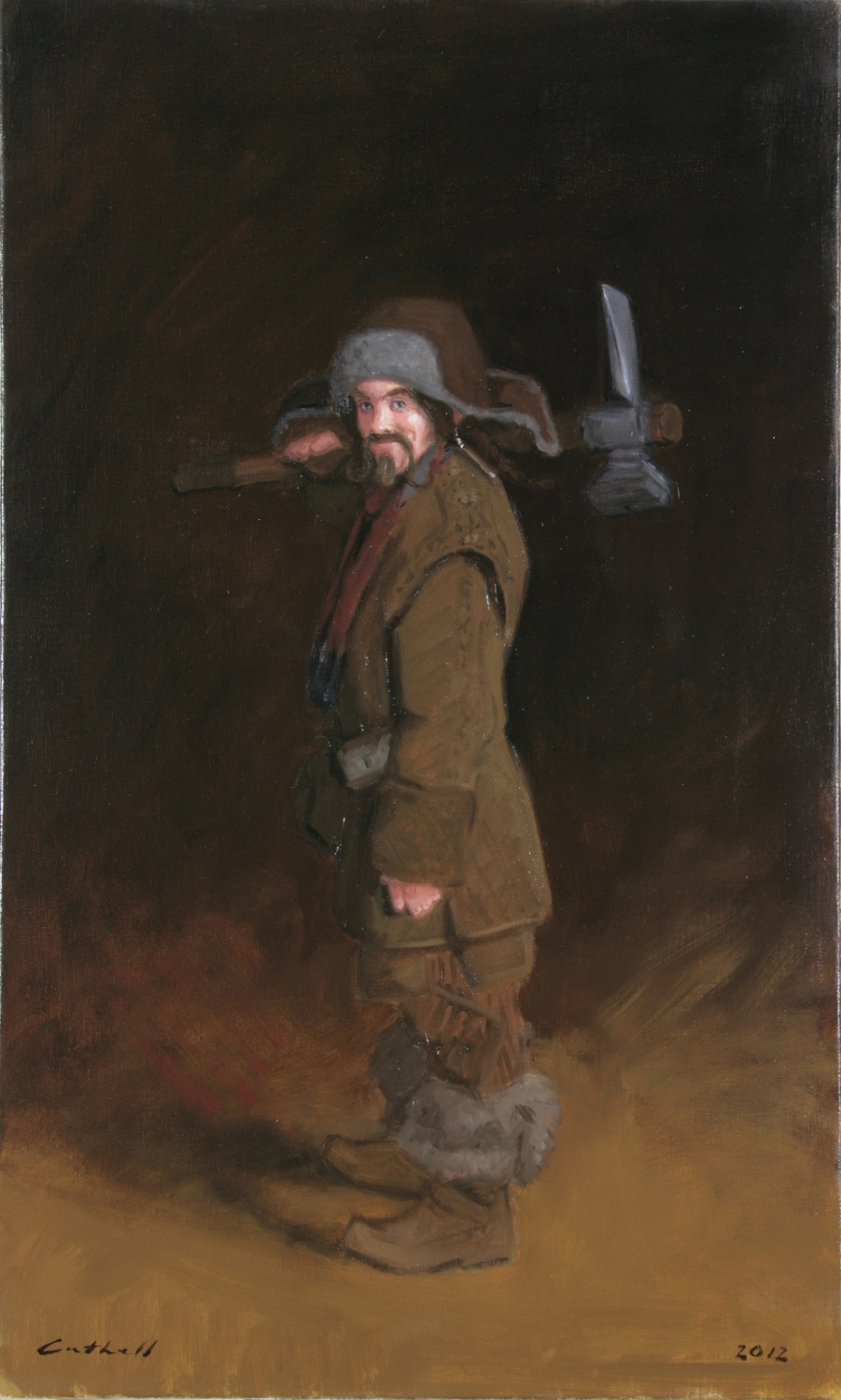 Bofur,  Oil on Linen, 84 x 51cm, 2012